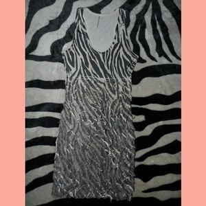 Zebra Stripe Dress Very Flattering casual
